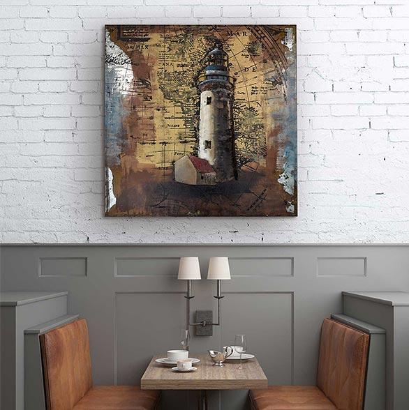 Motiv mit Leuchtturm