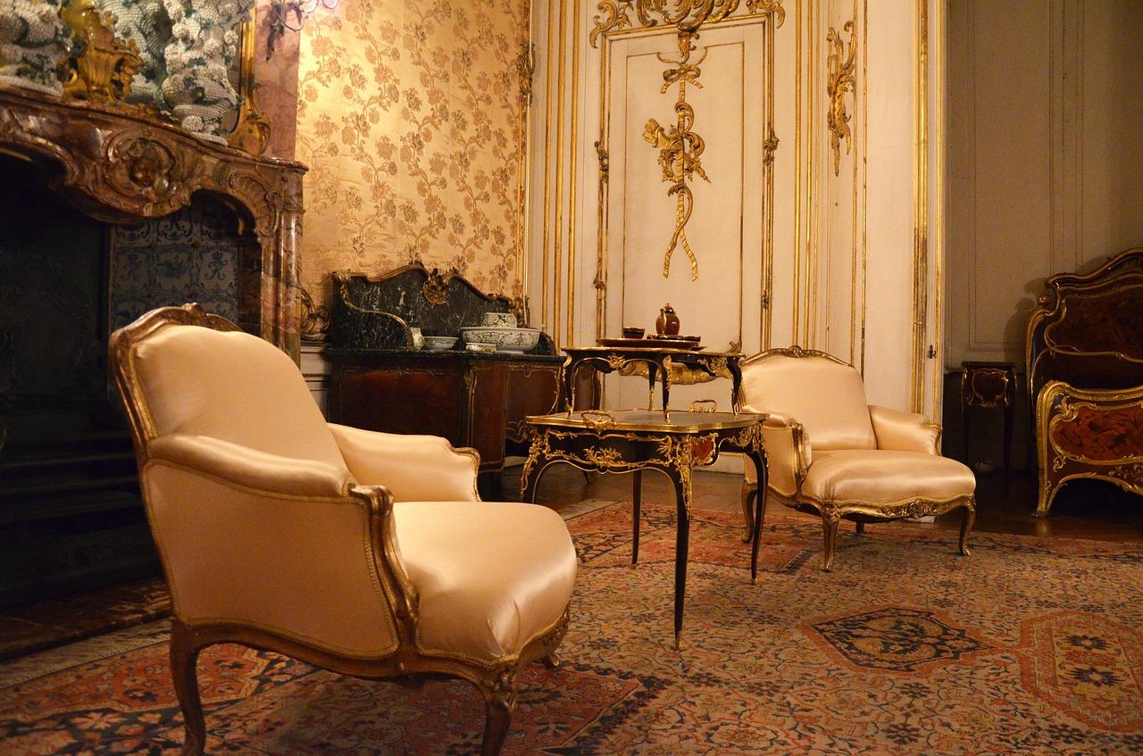 Schloss Sanssouci Barock Sessel Wohnzimmer Möbel