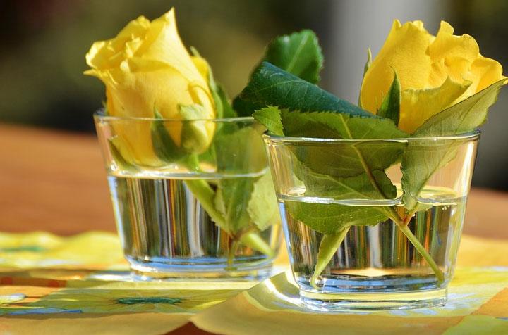 Esstisch mit Tischdekoration für Freunde