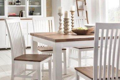 Massiver Lyron Esstisch und Stühle