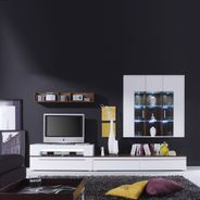 Wohnwand Ricky 2 in Weiß und Walnuss  – Bild 2