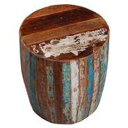Hocker Tunja rund aus recyceltem Massivholz – Bild 4