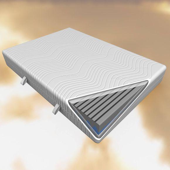 Matratze 140x200 Komfortschaum mit 7 Zonen 27cm hoch – Bild 1