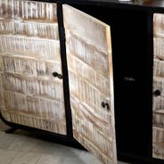 Sideboard Drobak aus recyceltem Massivholz und Metall – Bild 4