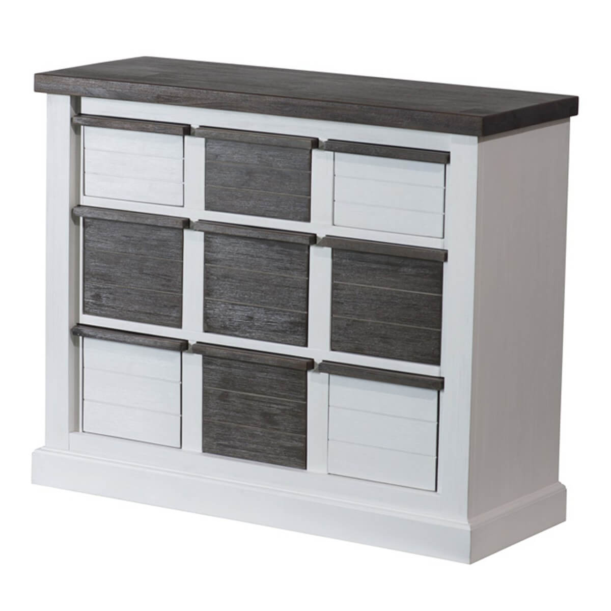 sideboard loft in akazie massiv wei braun. Black Bedroom Furniture Sets. Home Design Ideas