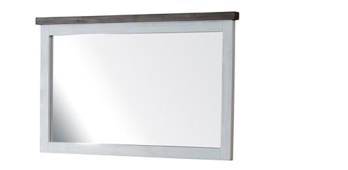 Spiegel Loft Massivholz Weiß Braun