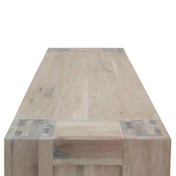 TV Lowboard Granby in Eiche White Wash 130 cm – Bild 5