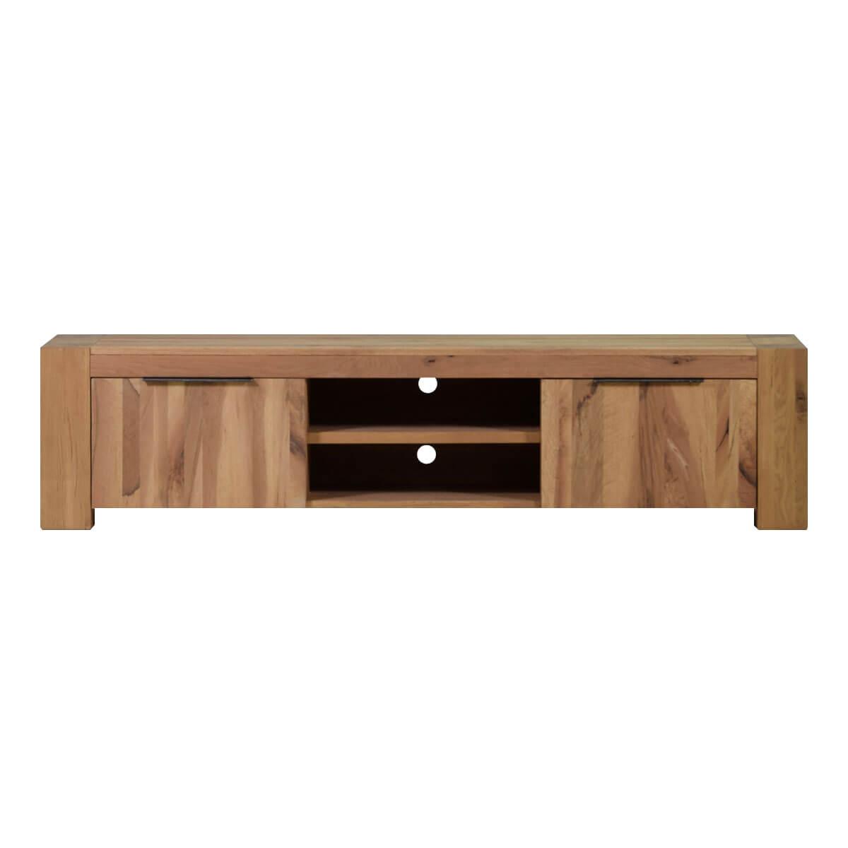 tv lowboard in eiche tv board natur fernsehtisch massivm bel 210 cm neu ebay. Black Bedroom Furniture Sets. Home Design Ideas