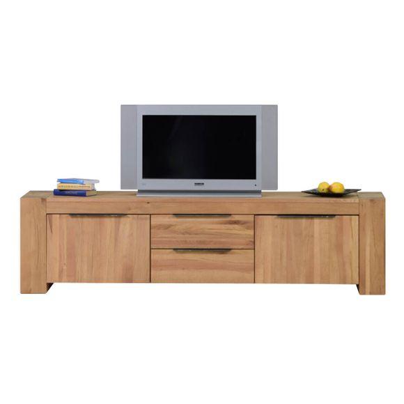 TV Lowboard Granby in Eiche Natur geölt 190 cm – Bild 2