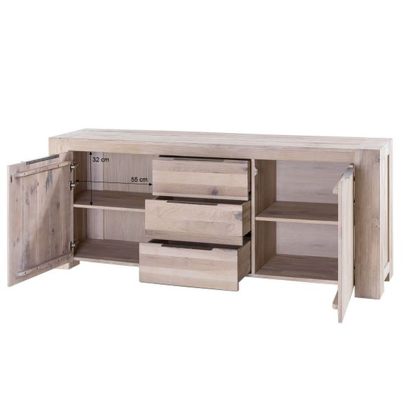 Sideboard Granby in Eiche White Wash 205 cm Breit – Bild 7
