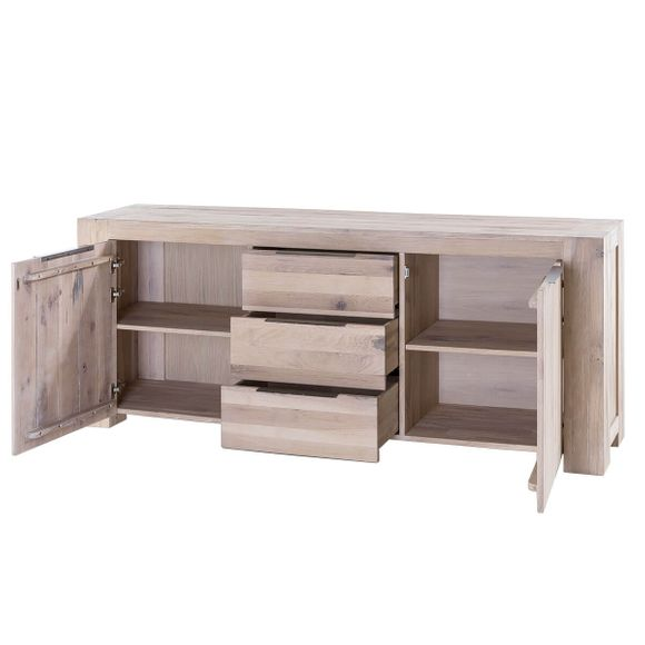 Sideboard Granby in Eiche White Wash 205 cm Breit – Bild 4