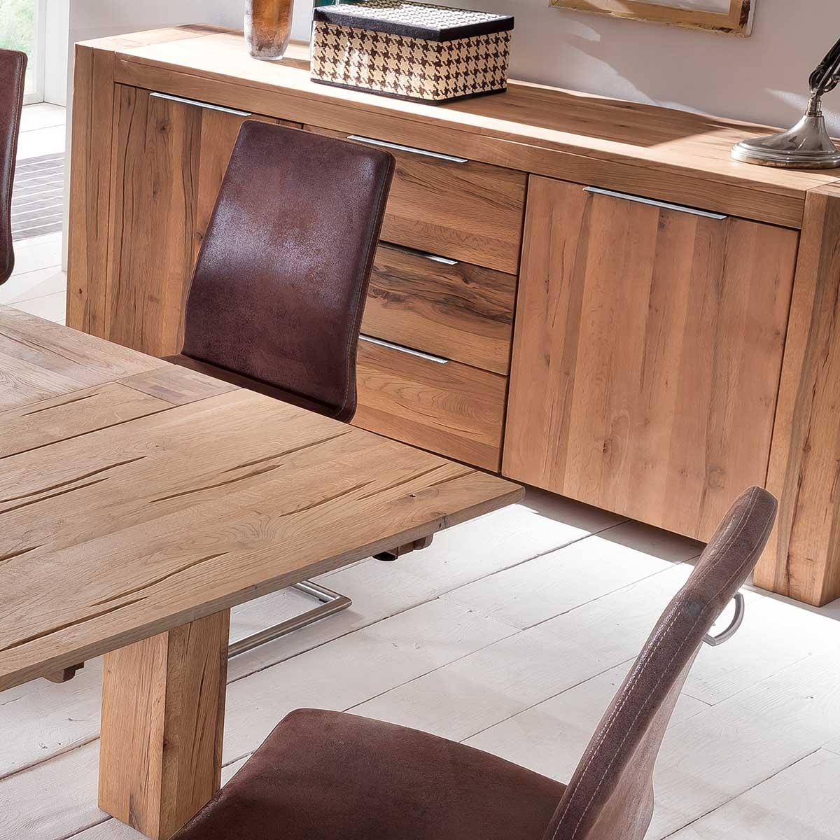 sideboard granby in eiche natur ge lt 205 cm breit. Black Bedroom Furniture Sets. Home Design Ideas