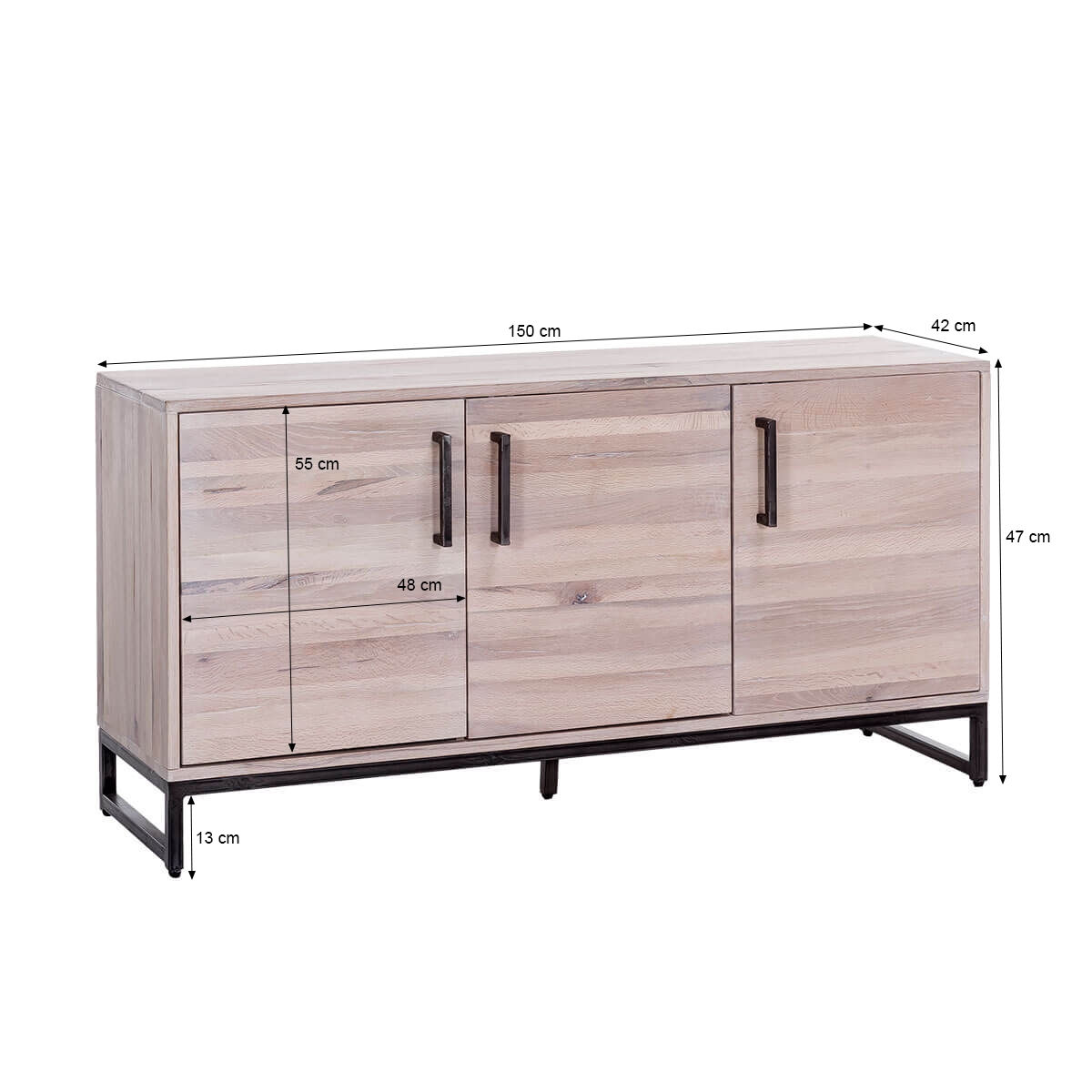sideboard solidon in wildeiche gek lkt 150 cm breit. Black Bedroom Furniture Sets. Home Design Ideas