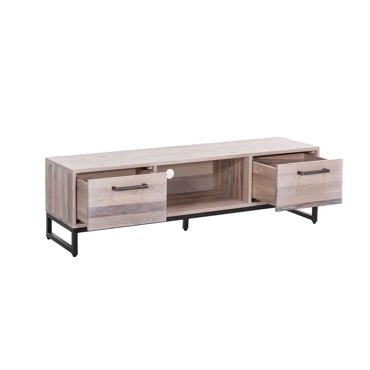 tv board lowboard eiche massiv weiss ge lt fernsehschrank. Black Bedroom Furniture Sets. Home Design Ideas