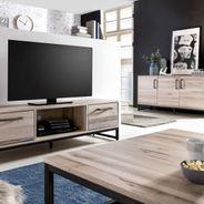 TV Lowboard Solidon in Wildeiche gekälkt 150 cm Breit – Bild 7