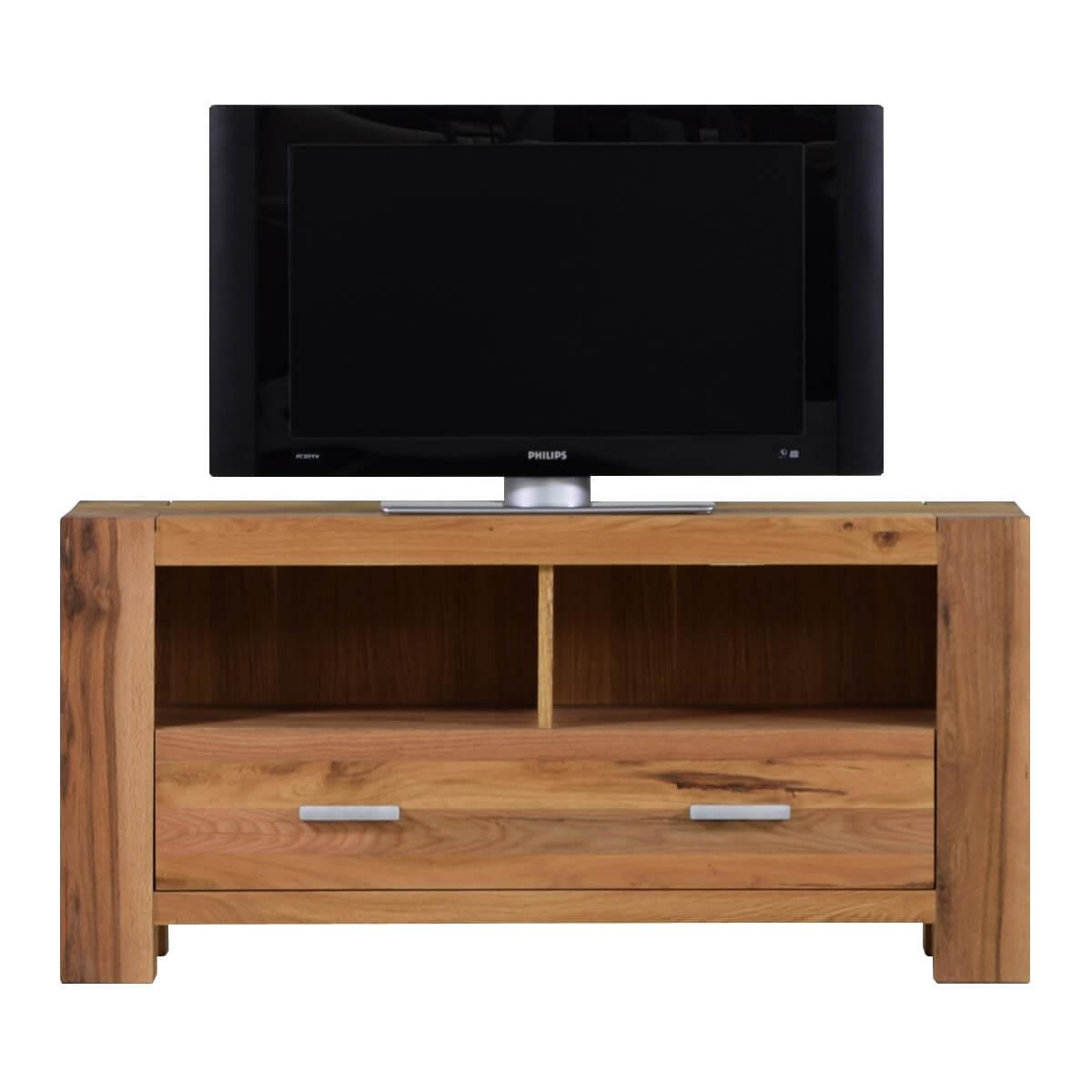 tv board in eiche lowboard massiv fernsehtisch massivm bel. Black Bedroom Furniture Sets. Home Design Ideas