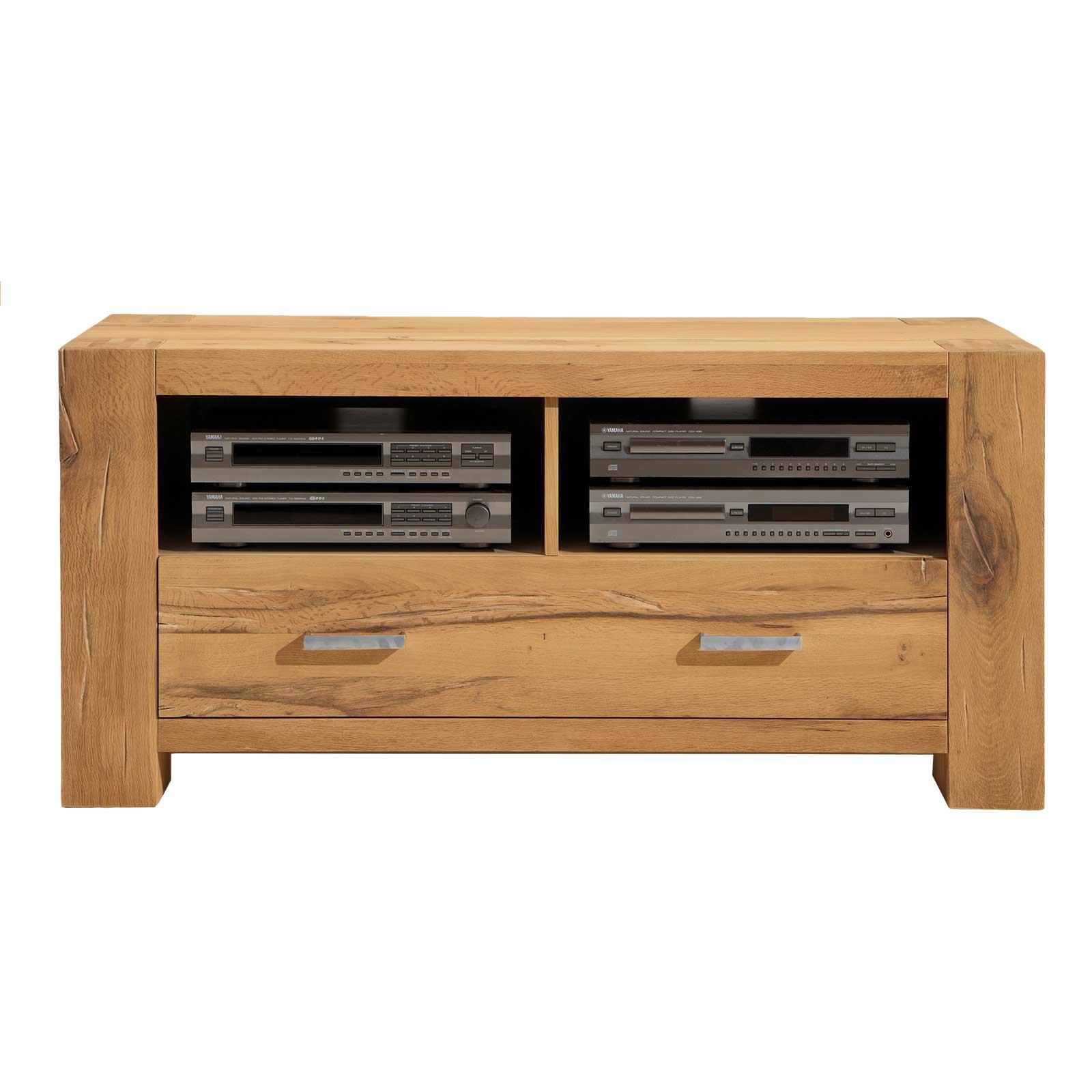 tv board braxton in eiche massiv natur ge lt. Black Bedroom Furniture Sets. Home Design Ideas