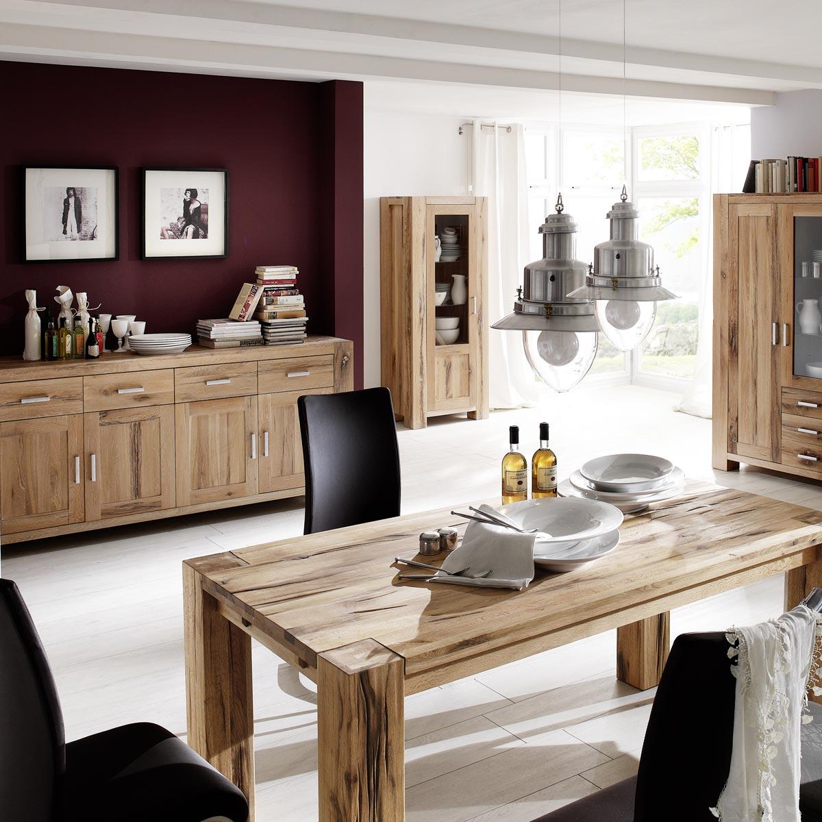 sideboard braxton in eiche massiv natur ge lt. Black Bedroom Furniture Sets. Home Design Ideas