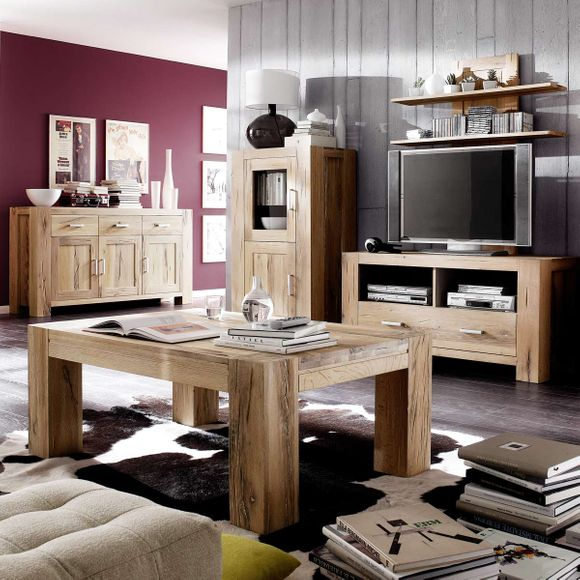 sideboard braxton in eiche massiv natur ge lt. Black Bedroom Furniture Sets. Home Design Ideas