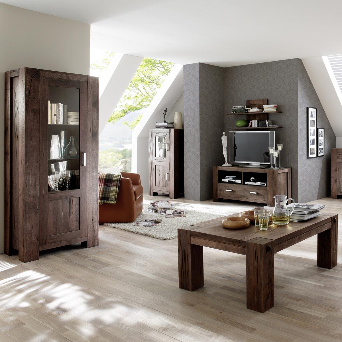 vitrine braxton in eiche massiv verwittert antik 132 cm. Black Bedroom Furniture Sets. Home Design Ideas