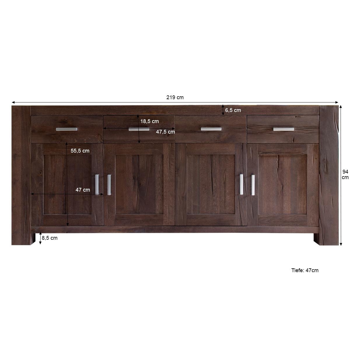 sideboard in eiche kommode massivm bel massiv verwittert. Black Bedroom Furniture Sets. Home Design Ideas