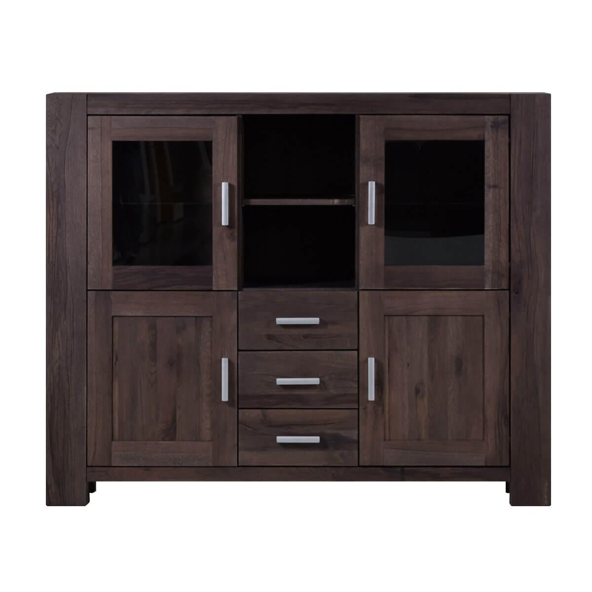 highboard braxton in eiche massiv verwittert antik. Black Bedroom Furniture Sets. Home Design Ideas
