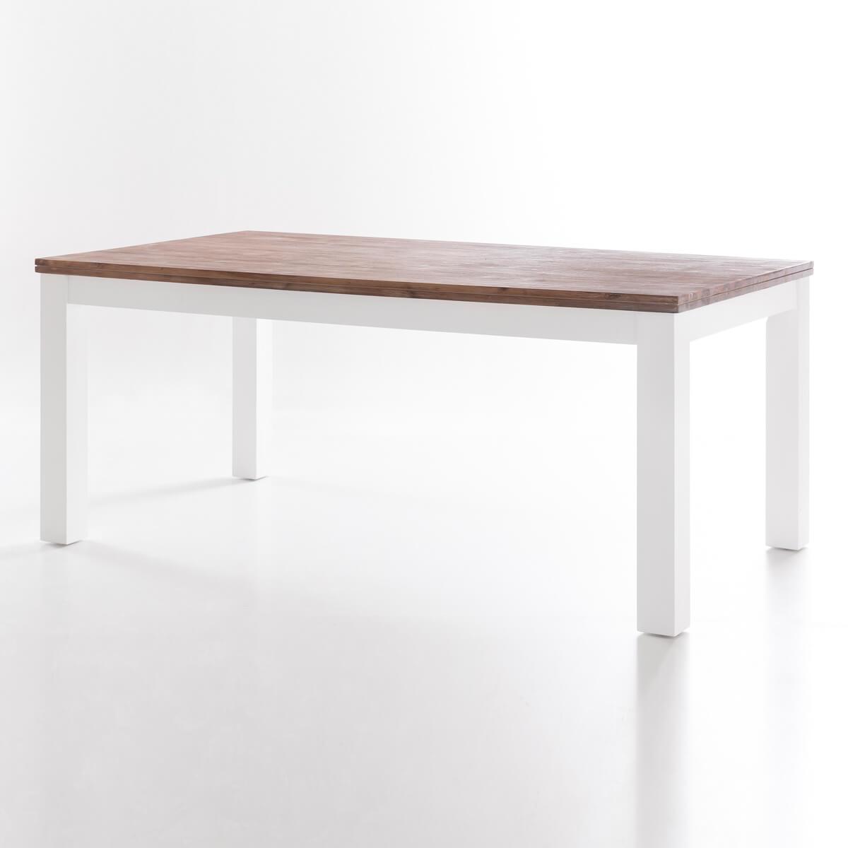 esstisch lyron akazie massiv wei braun tisch massivholz 160 180 200 x 90 cm ebay. Black Bedroom Furniture Sets. Home Design Ideas