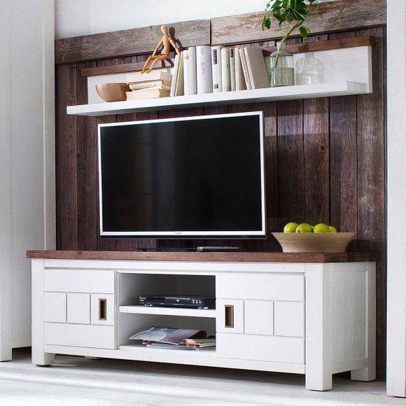 highboard havana in akazie massiv wei braun 140cm breit. Black Bedroom Furniture Sets. Home Design Ideas