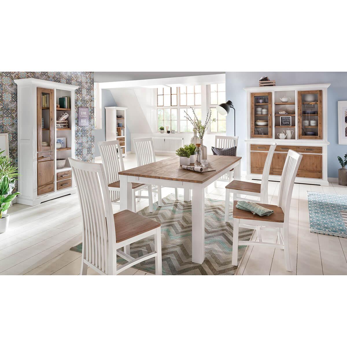 couchtisch 65x65 cm lale in akazie wei braun. Black Bedroom Furniture Sets. Home Design Ideas