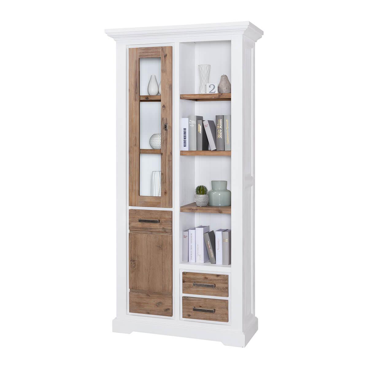 vitrine akazie massivholz kommode wei braun massiv massivm bel schrank 200 cm ebay. Black Bedroom Furniture Sets. Home Design Ideas