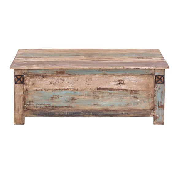 Couchtisch Largo 115 x 67 cm aus Massivholz im Vintage Look – Bild 6