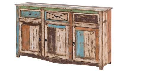 Sideboard Massivholz Bunt Vintage