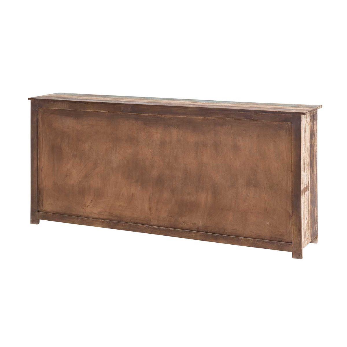 sideboard largo 193cm breit aus massivholz im vintage look. Black Bedroom Furniture Sets. Home Design Ideas