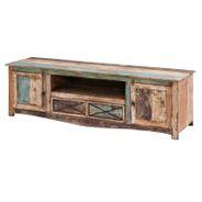 TV Lowboard Largo 180cm Breit aus Massivholz im Vintage Look – Bild 1