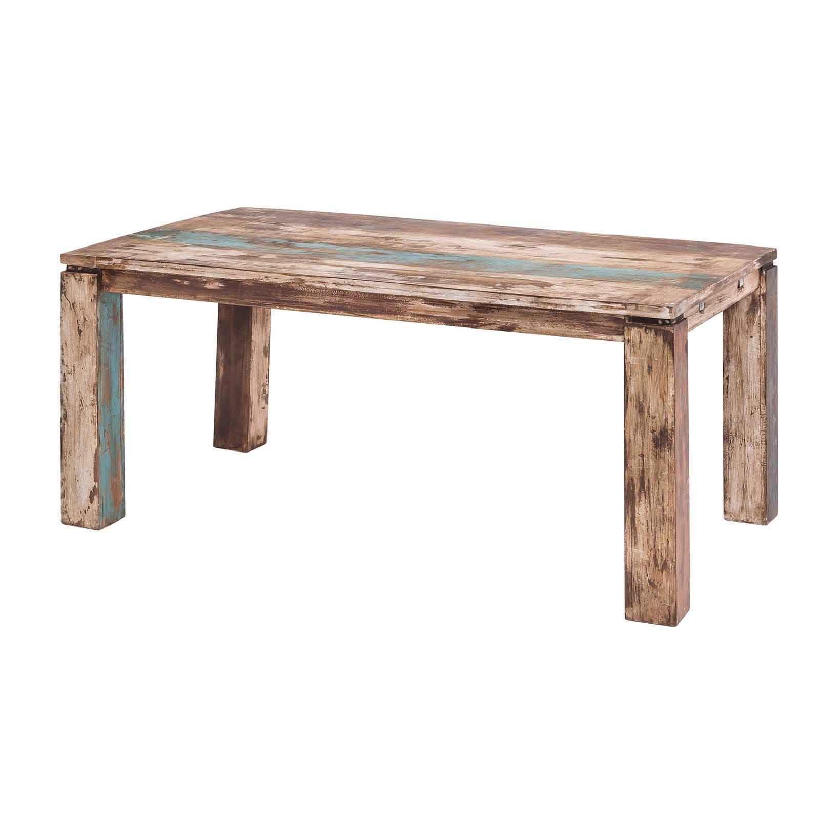Esstisch largo 160 260 cm aus massivholz im vintage look for Esstisch 160