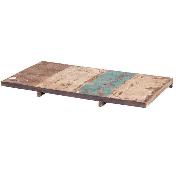 Esstisch Largo 180-280 cm aus Massivholz im Vintage Look + Ansteckplatten – Bild 5