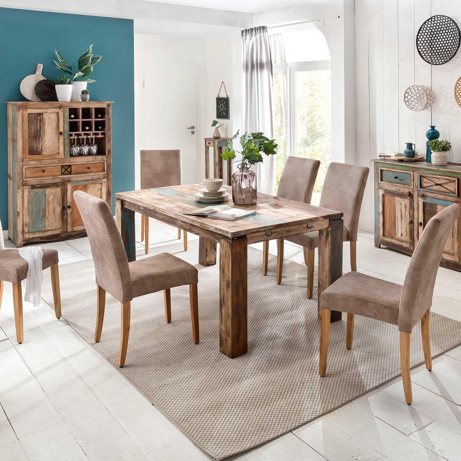 Esstisch largo 200 300 cm aus massivholz im vintage look for Esstisch 300 cm