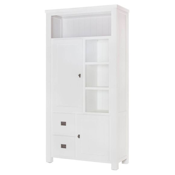 Highboard Lyron in Akazie massiv Weiß 100 cm – Bild 1