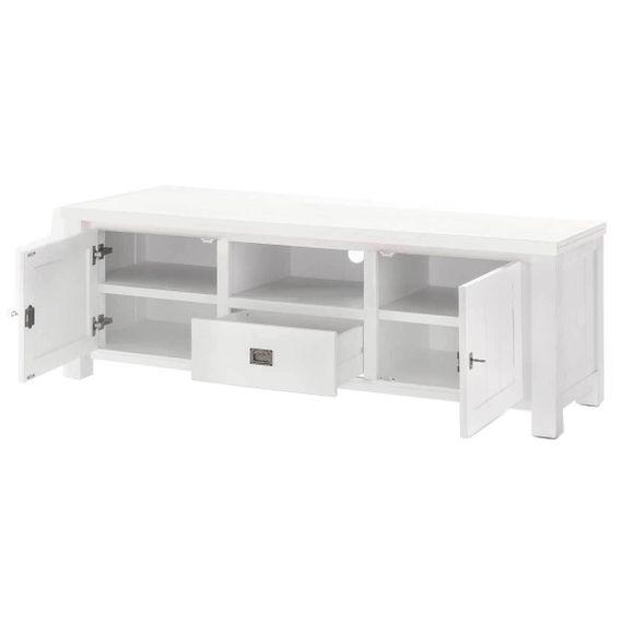 TV Lowboard Lyron in Akazie massiv Weiß 168 cm – Bild 3
