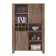 Highboard Avora 115cm Breit in Braun Akazie Massiv – Bild 6