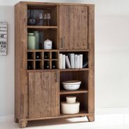 Highboard Avora 115cm Breit in Braun Akazie Massiv – Bild 4
