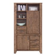 Highboard Avora 110cm Breit in Braun Akazie Massiv – Bild 5