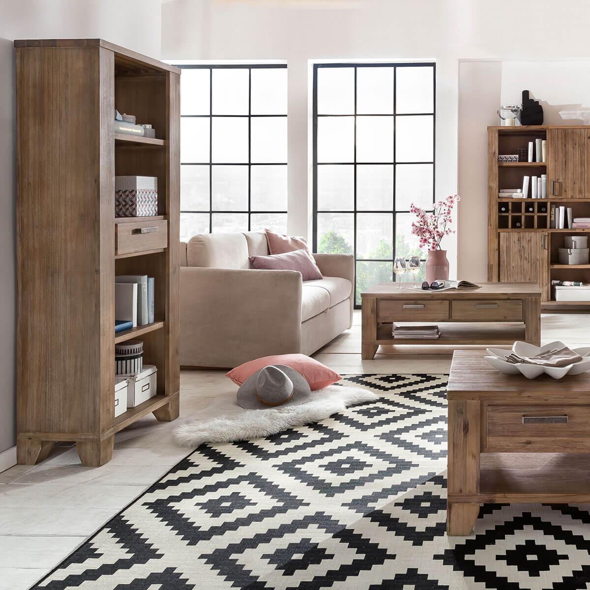 couchtisch avora aus massivholz akazie in braun. Black Bedroom Furniture Sets. Home Design Ideas