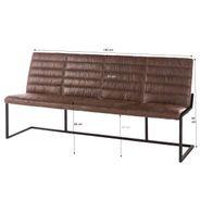 Sitzbank Nale in Braun mit Rückenlehne – Bild 6