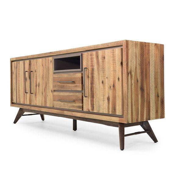 Sideboard Tati 200cm Akazie Massiv Braun Vintage – Bild 8