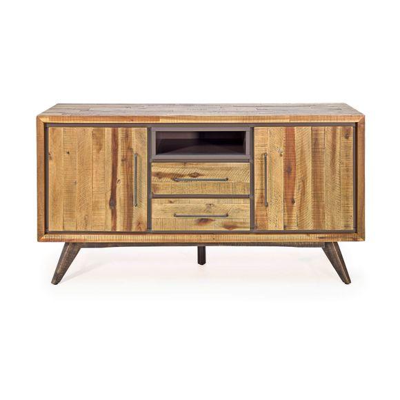 Sideboard Tati 150cm Akazie Massiv Braun Vintage – Bild 2