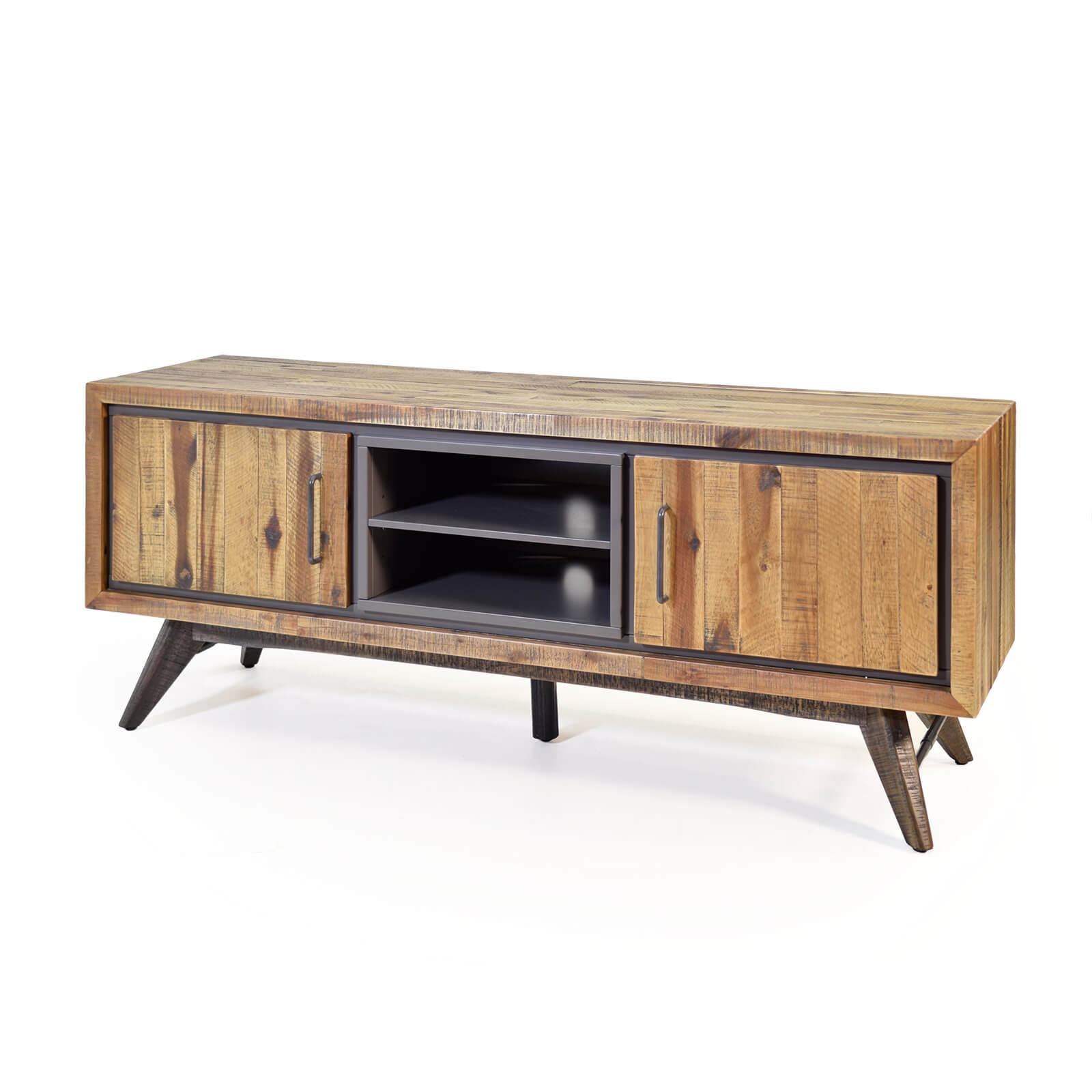 lowboard tati 150cm akazie massiv braun vintage. Black Bedroom Furniture Sets. Home Design Ideas