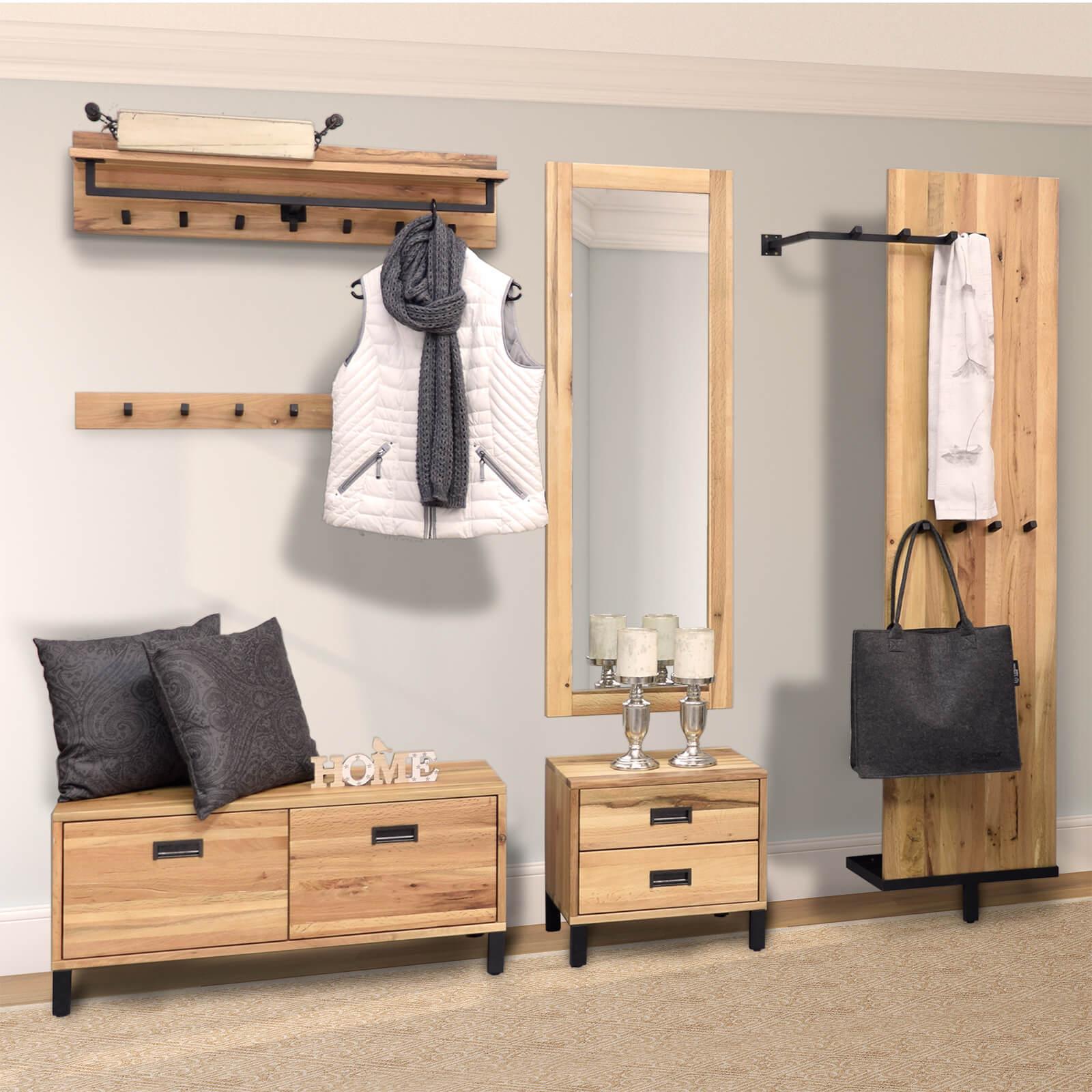 lowboard neru eiche massiv 100 cm breit. Black Bedroom Furniture Sets. Home Design Ideas