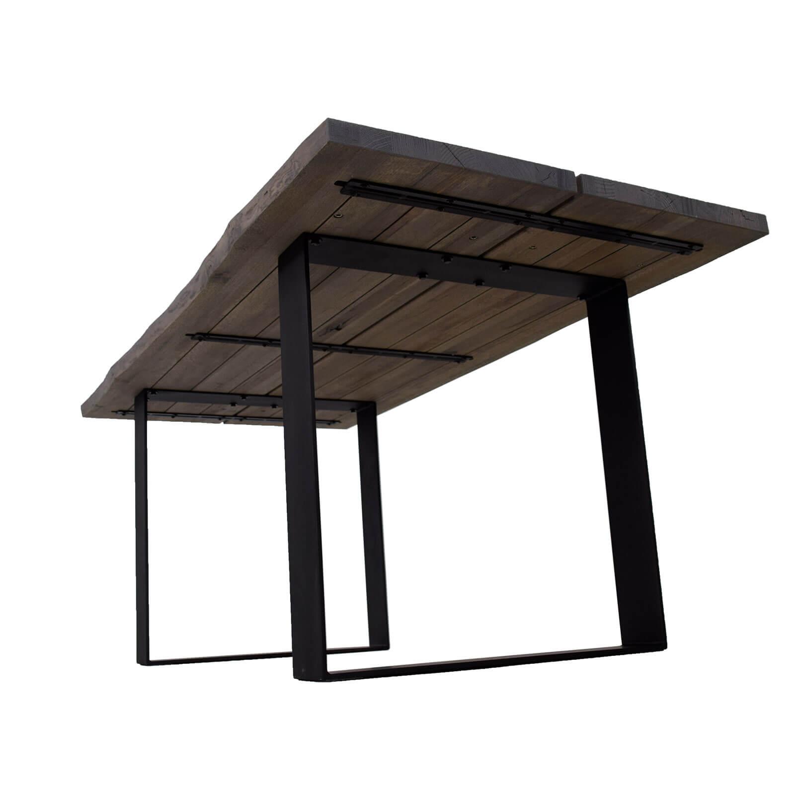 esstisch edge eiche massiv grau 180 x 90 cm. Black Bedroom Furniture Sets. Home Design Ideas