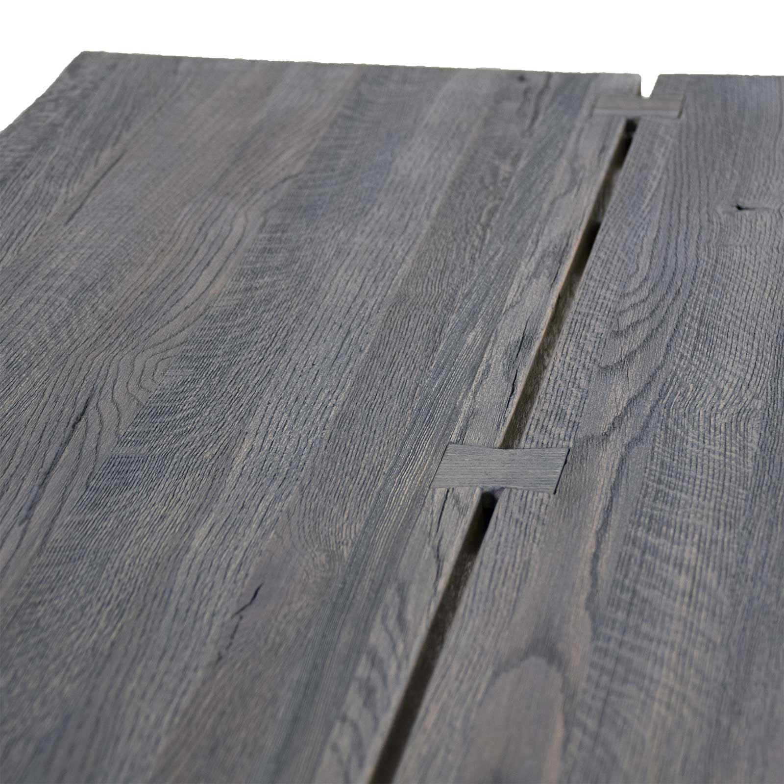 esstisch edge eiche massiv grau 180 x 90 cm